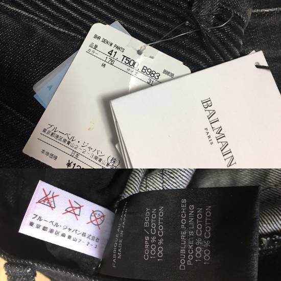 Balmain BNWT : Made In Japan Black Washed Biker Jeans W31 F17.5cm Size US 31 - 4