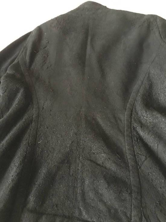 Julius $2200 Lamb Leather Blistered And Reversed Moto Jacket Made In Japan In Mint Condition Size US M / EU 48-50 / 2 - 15