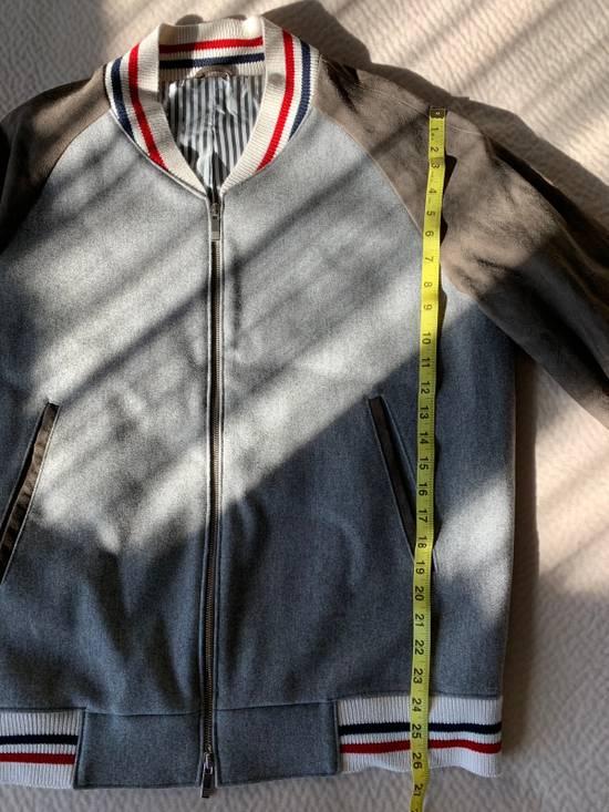 Thom Browne Cashmere & Suede Varsity Jacket Sz 4 Size US L / EU 52-54 / 3 - 9