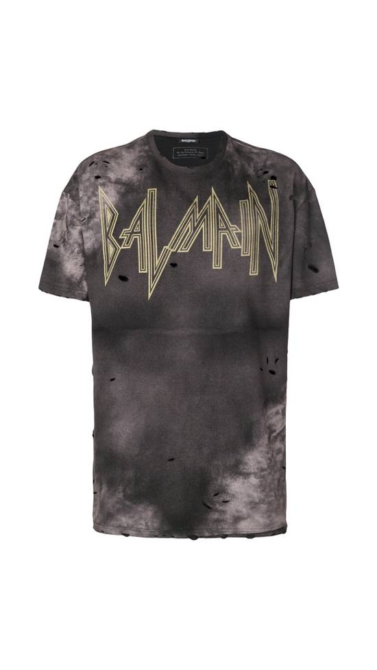 Balmain Balmain Distressed Batik Print Logo T-Shirt Size US XL / EU 56 / 4 - 1