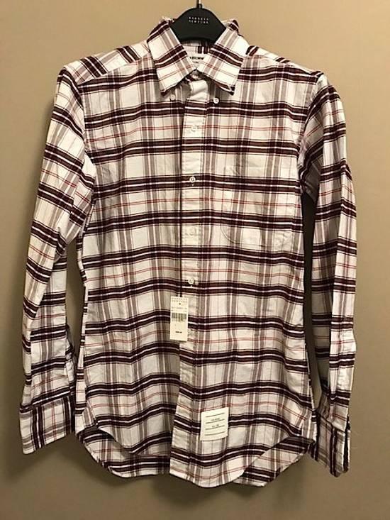 Thom Browne Plaid Oxford Cloth Shirt with Grosgrain Tab NEW Size US S / EU 44-46 / 1 - 5