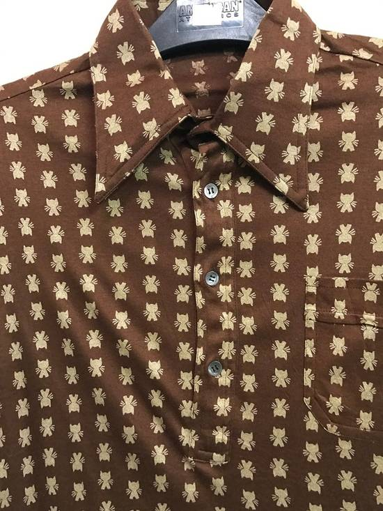 Givenchy Luxury Designer GIVENCHY Gentleman Paris Made in France Atomic Print Retro Collar Shirt Size US M / EU 48-50 / 2 - 2