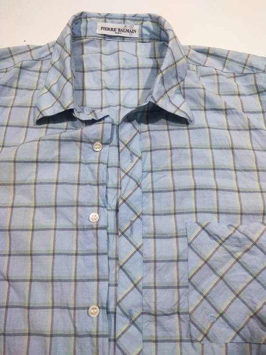 Balmain Luxury Brand BALMAIN Checker Button Down Shirt Size US L / EU 52-54 / 3 - 1