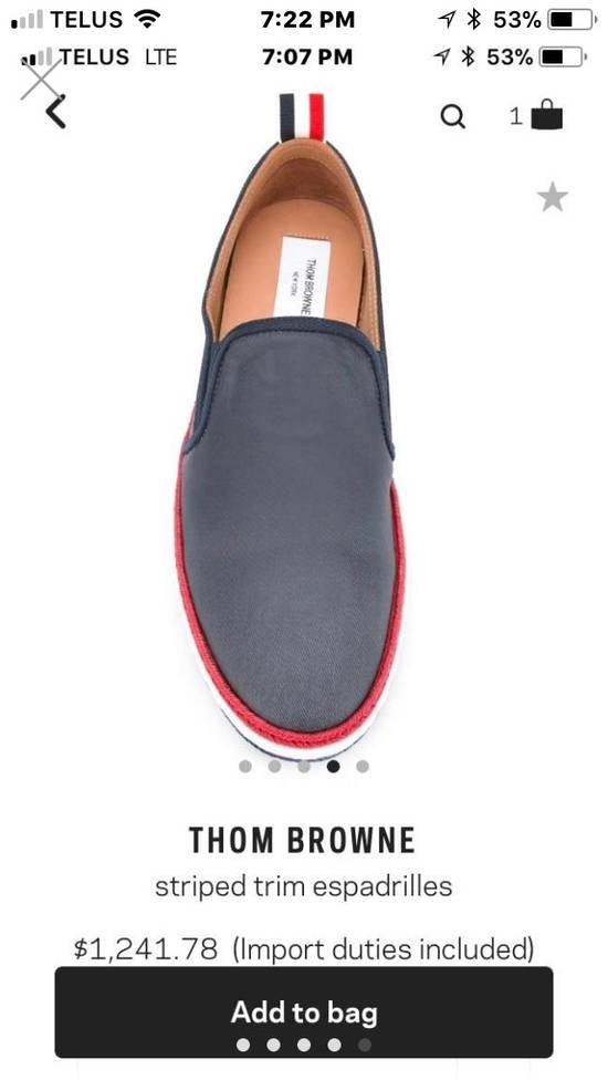 Thom Browne BRAND NEW Striped Trim Espadrilles Size US 10 / EU 43 - 3