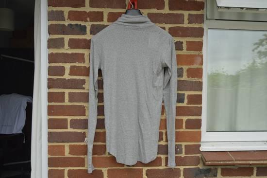 Balmain Light Grey Ribbed Roll Neck T-shirt Size US M / EU 48-50 / 2 - 6