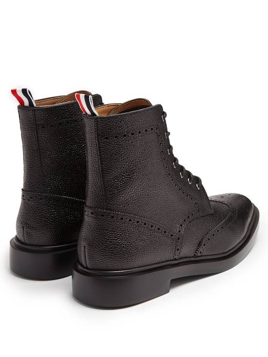 Thom Browne Wingtip Grained-Leather Lace Up Ankle Boots msrp $1100 Size US 10 / EU 43 - 1