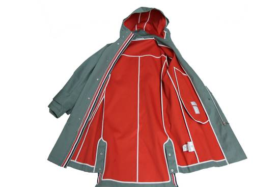 Thom Browne Men's Hood Snap Front Parka In Mackintosh Size US XS / EU 42 / 0 - 3