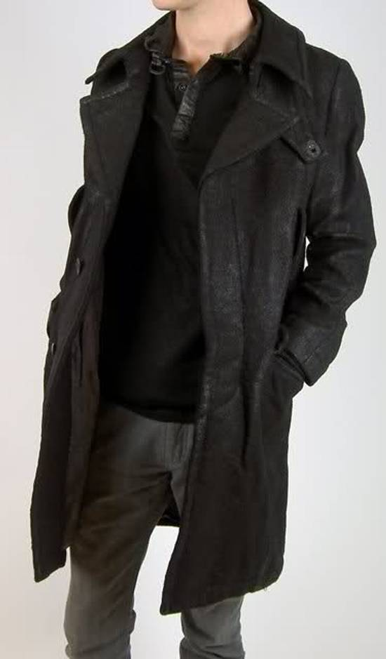 Julius Julius_7 Waxed Wool Peacoat Size US L / EU 52-54 / 3 - 3