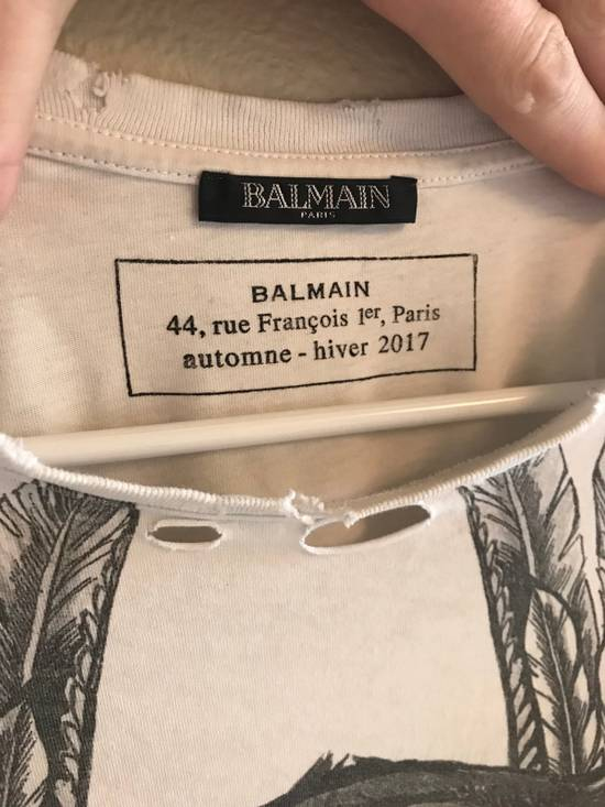 Balmain $505: AW17 Distressed Oversized Tiger Tee Size US S / EU 44-46 / 1 - 3