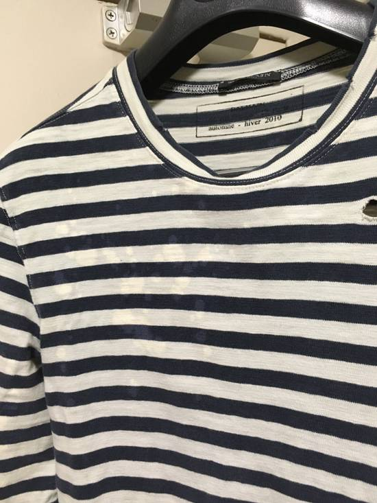 Balmain AW10 Destroyed Breton Shirt Size US XS / EU 42 / 0 - 1