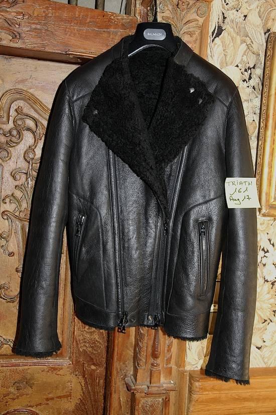 Balmain AW12/13 Shearling Biker Jacket Size US M / EU 48-50 / 2 - 5
