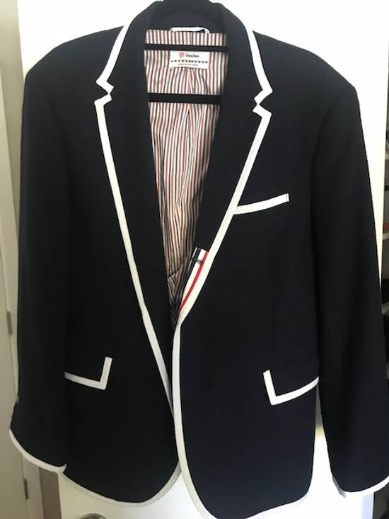 Thom Browne Blue navy blazer with white pipping Size 40R