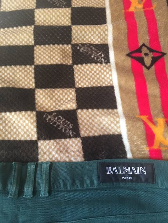 Balmain FINAL DROP!!! Green Biker Balmain Jeans Size US 34 / EU 50 - 4
