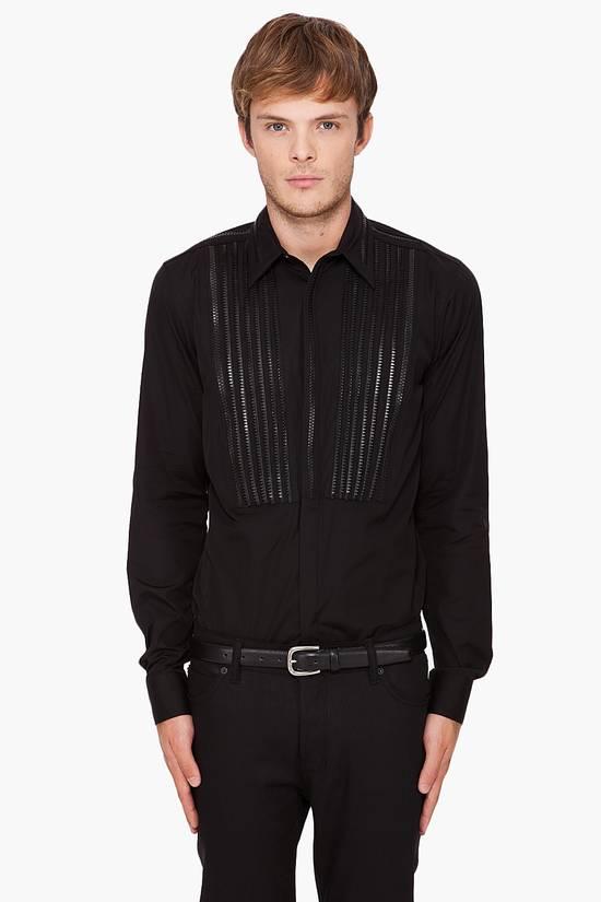 Givenchy Givenchy Zipper Tuxedo Bibb Style Black Shirt Size 40 Euro 15 3/4 Zip Detail Size US M / EU 48-50 / 2