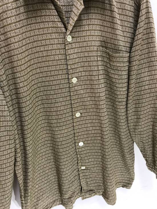 Givenchy Monsieur Givenchy Classic Logos All Over Striped Button Shirt Made in Japan Size US M / EU 48-50 / 2 - 3