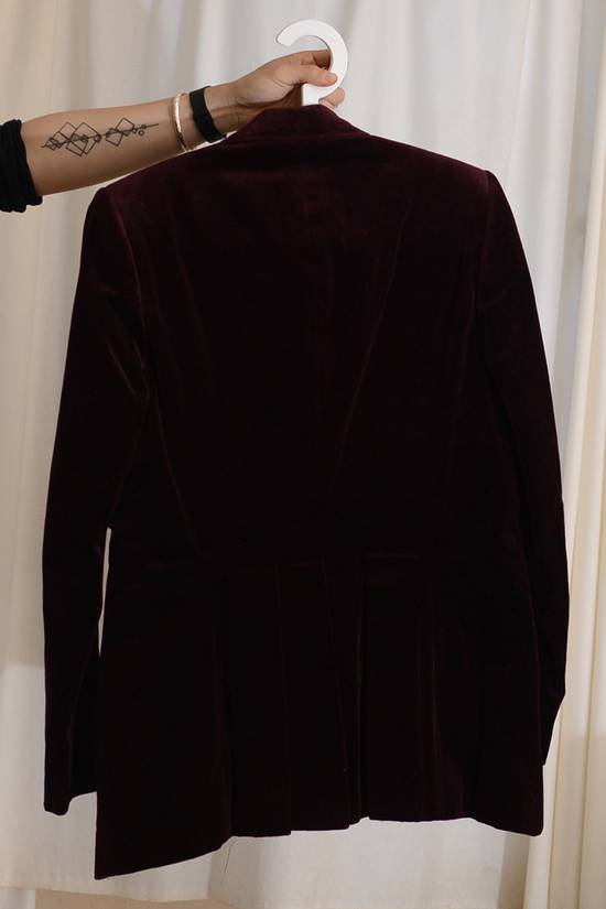 Julius velvet 2 button deep red (bordeaux) jacket Size 36S - 3