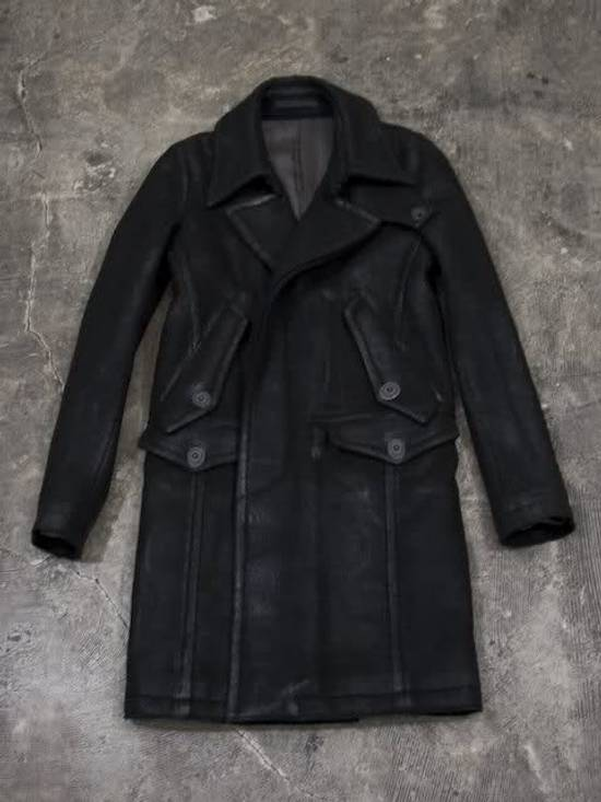 Julius Julius_7 Waxed Wool Peacoat Size US L / EU 52-54 / 3