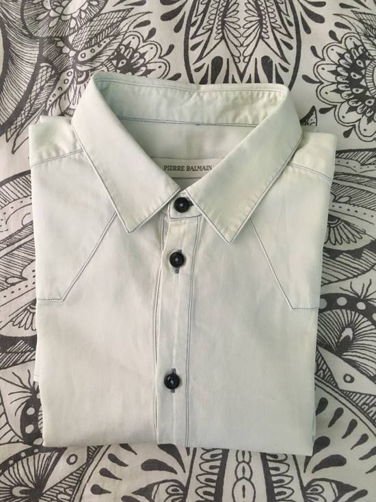 Balmain Bleached out Button Down Denim Shirt Size US S / EU 44-46 / 1 - 5