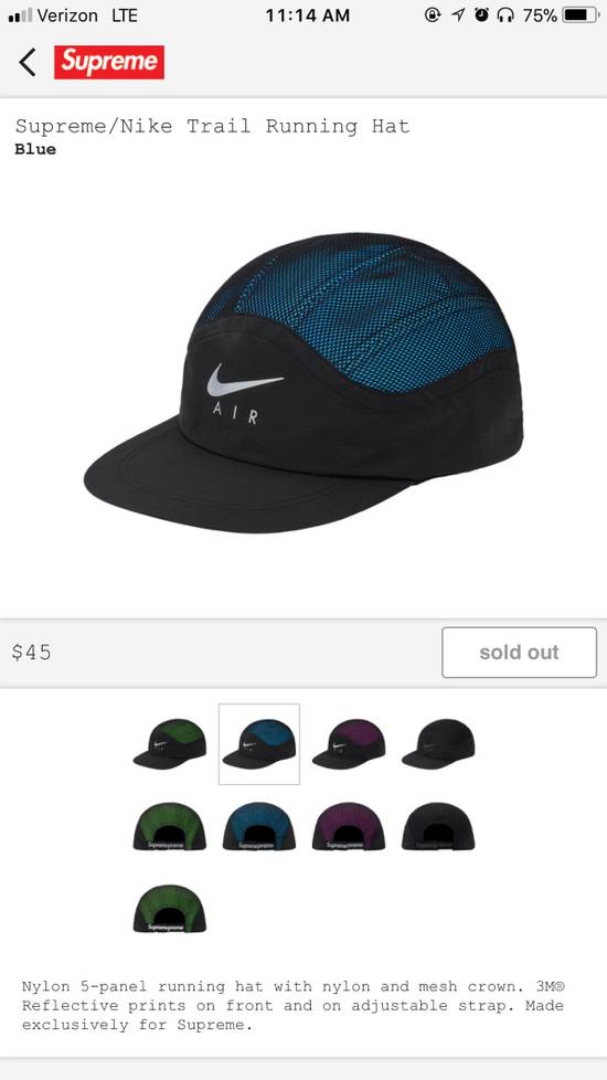 204b236a086 Supreme Supreme Nike Trail Running Hat Blue Size one size - Hats for ...