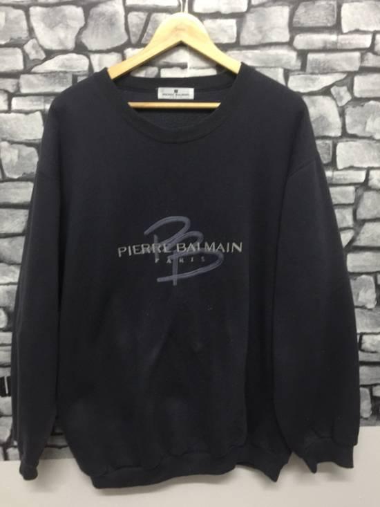 Balmain ⚡️Final Drop⚡️Pierre Balmain Embroidered Spellout Sweatshirt Size US L / EU 52-54 / 3