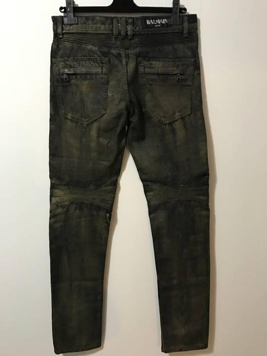 Balmain Dark W/Gold Wax biker Size US 30 / EU 46 - 1
