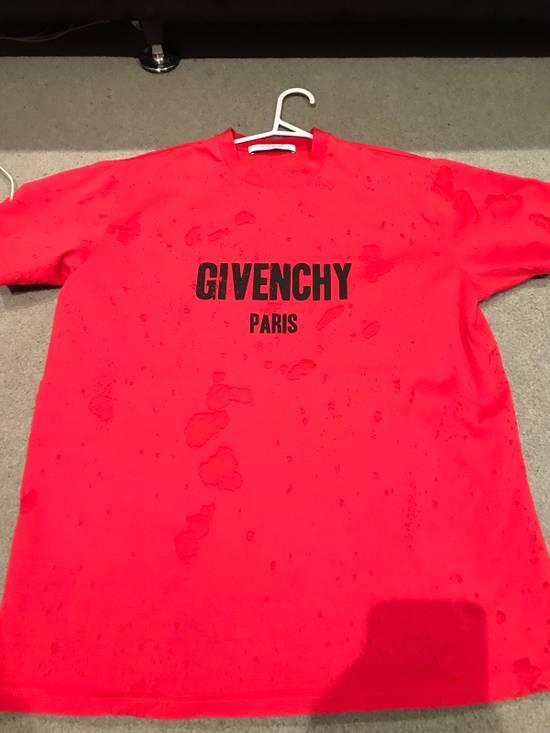 Givenchy Givenchy Logo Burnout Cotton T Shirt Size US XS / EU 42 / 0 - 1