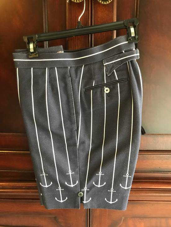 Thom Browne Thom Browne SS13 Navy Canvas Shorts Suit With Anchors (size 0 Blazer, Size 1 Shorts) Size 34S - 1