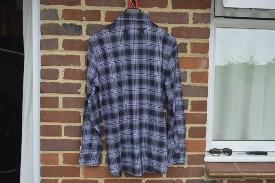Givenchy Grey Plaid Stars Print Shirt Size US XL / EU 56 / 4 - 7
