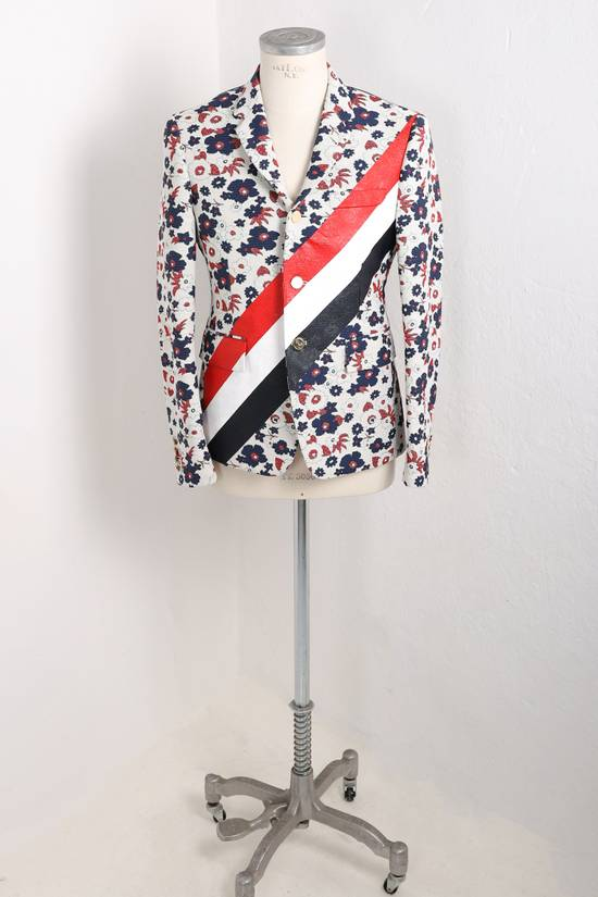 Thom Browne Floral jacket with RWB stripes Size 42R
