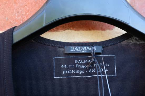 Balmain Black Ribbed Knit Long Sleeve T-shirt Size US S / EU 44-46 / 1 - 5