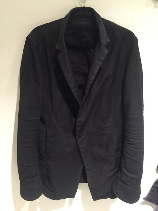 Julius FW13-14 'CRACK' black waxed edge moleskin blazer Size 46R - 4