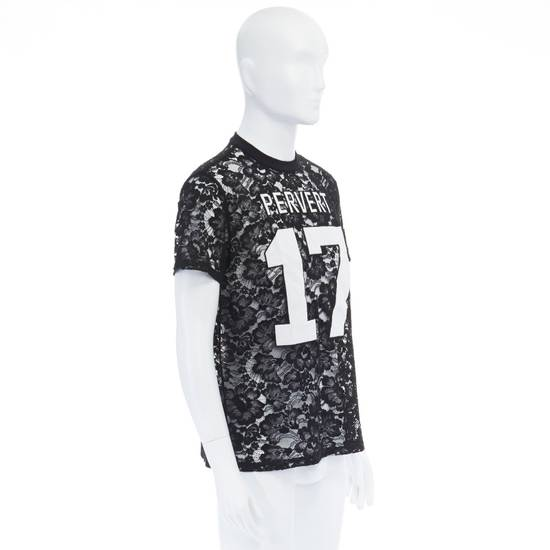 Givenchy GIVENCHY TISCI black sheer lace Pervert 17 patched football jersey top IT38 M Size US M / EU 48-50 / 2 - 2