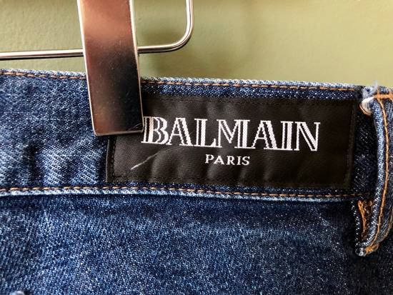 Balmain Distressed Straight Leg Japanese Jeans Size US 34 / EU 50 - 1