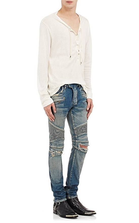 Balmain Size Small - Cashmere Blend Lace Front Shirt - FW16 - $625 Retail Size US S / EU 44-46 / 1 - 2