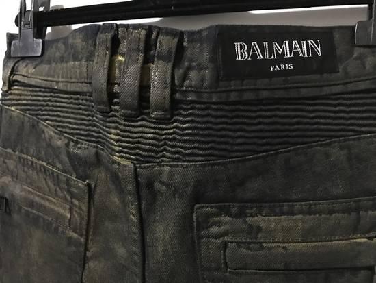 Balmain Size 30 - Gold Colored Biker - $1850 Retail - BLOW OUT Size US 30 / EU 46 - 2