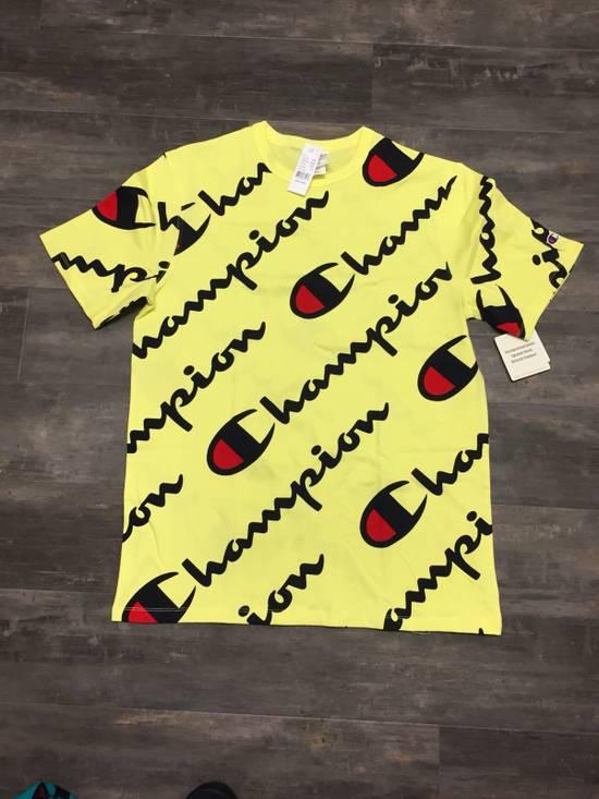 9605eadc8d6e1c Champion Champion Heritage Script Tee Frozen Yellow Size l - Short ...