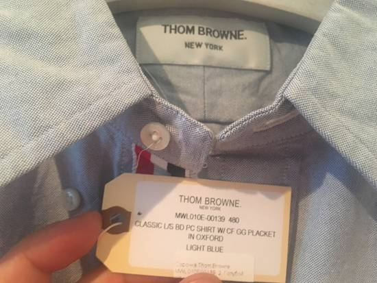 Thom Browne Light Blue Oxford Shirt w/Signature Grosgrain Placket Size US S / EU 44-46 / 1 - 1