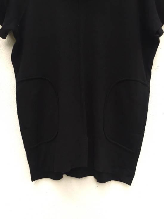 Balmain Authentic Japan Market Black Minimalist Shawl Collar Double Pocket Oversized Stretch Shirt Size US L / EU 52-54 / 3 - 3