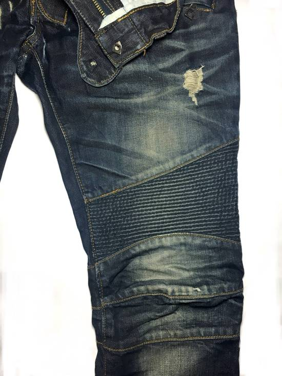Balmain BALMAIN DISTRESSED BIKER JEANS. REFERENCE MODEL T511-B317 Size US 30 / EU 46 - 2