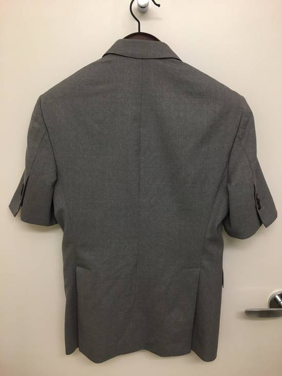 Thom Browne Thom Browne Short Sleeve Grey Tropical Wool Jacket Size 36S - 1