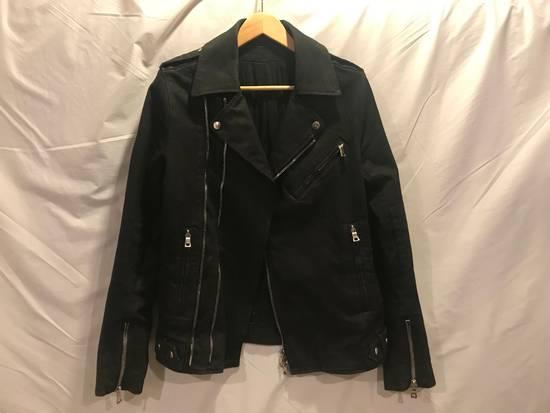 Balmain SS15 Waxed Cotton Biker Jacket Size US XL / EU 56 / 4 - 1