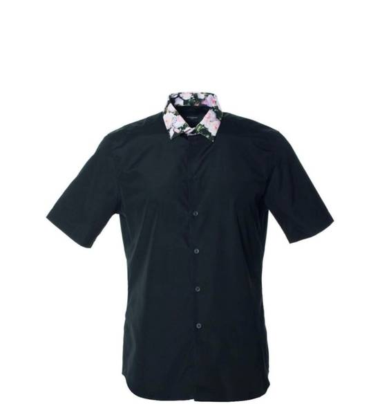 Givenchy Givenchy Mens Black W/ Floral Collar Button Down Size US M / EU 48-50 / 2 - 1