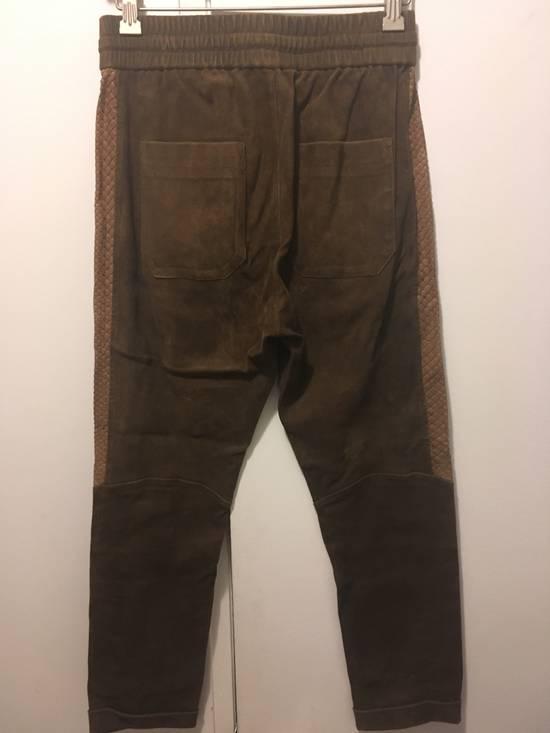 Balmain SS13 Python Leather Biker Pants Size US 30 / EU 46 - 7