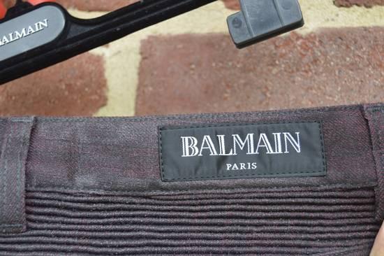 Balmain Bordeaux Waxed Biker Jeans Size US 34 / EU 50 - 5
