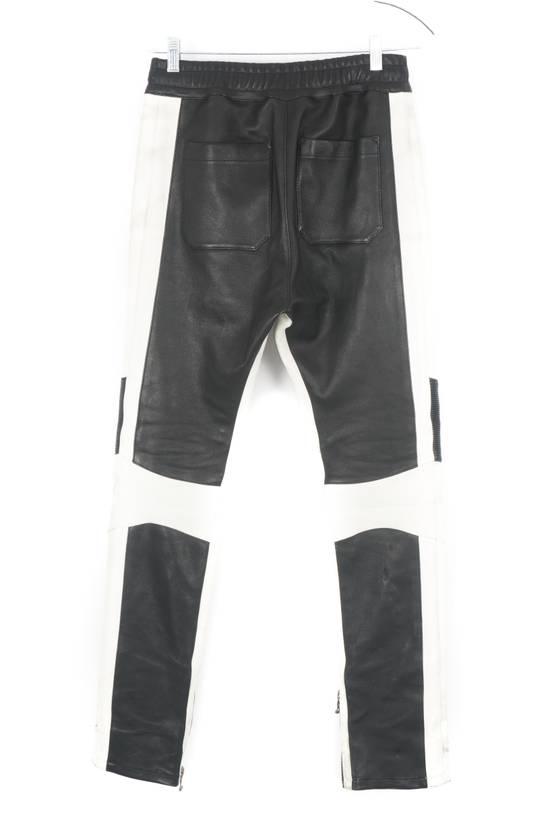 Balmain Balmain Black and White Leather Pants Size US 30 / EU 46 - 3
