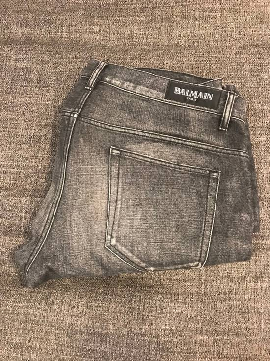 Balmain Dark Grey / Black Denim Size US 36 / EU 52