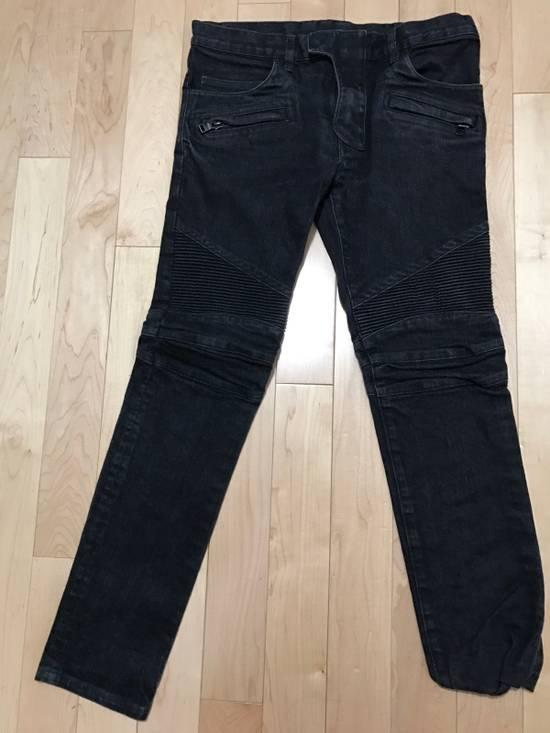 Balmain Black Biker Jeans Size US 31
