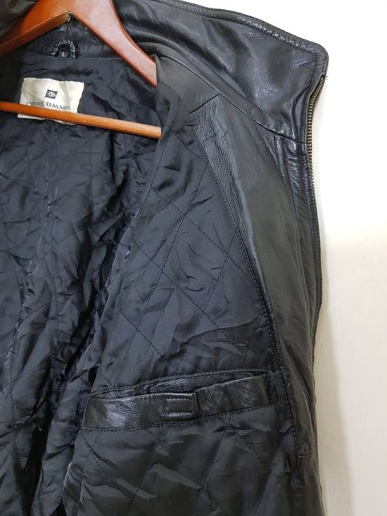 Balmain Authentic Pierre Balmain Riding Bomber Leather Jacket Size US L / EU 52-54 / 3 - 14