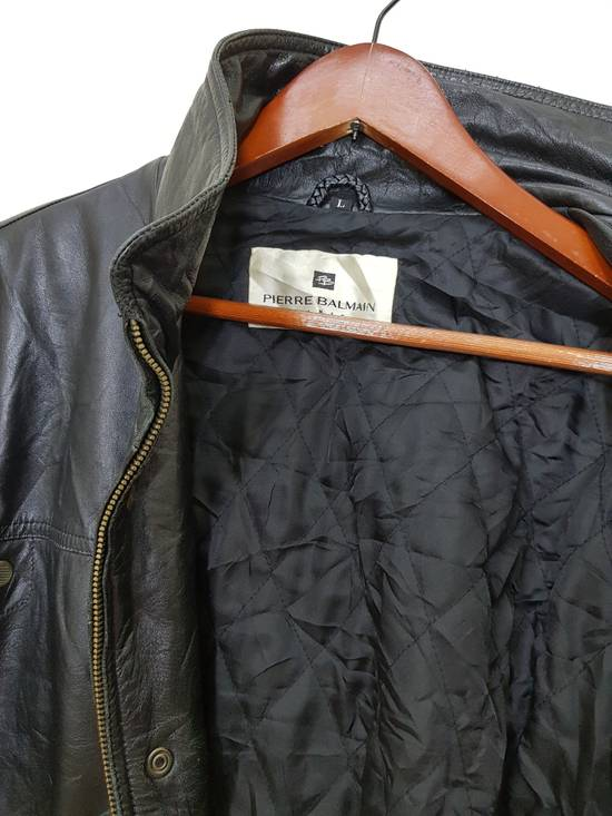 Balmain Authentic Pierre Balmain Riding Bomber Leather Jacket Size US L / EU 52-54 / 3 - 10