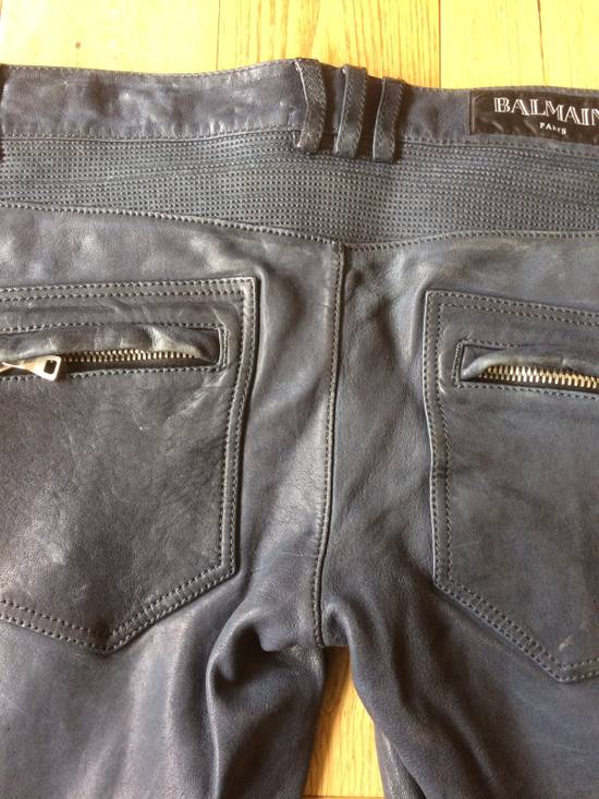 Balmain Balmain Grey Leather Mens Trousers Size US 34 / EU 50 - 5